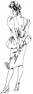 Как нарисовать Девушку в коктейльном платье 6