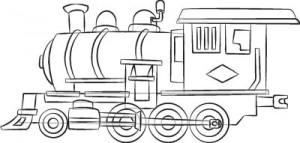 Как нарисовать Паровоз поэтапно в 7 шагов 8