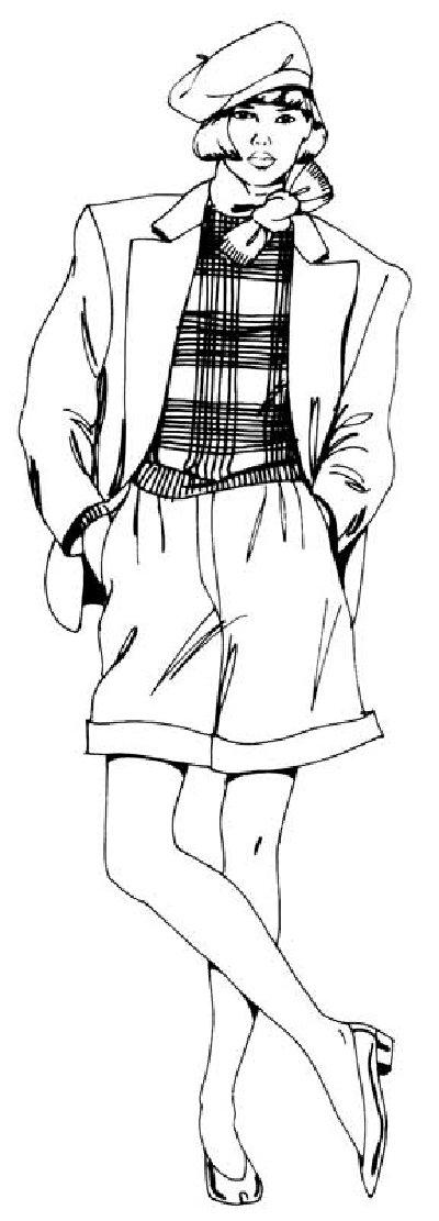 Как нарисовать Девушку в шортах поэтапно в 5 шагов