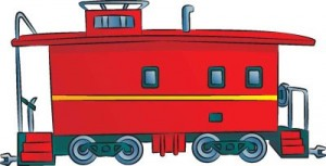 Как нарисовать Тормозной вагон поезда поэтапно в 6 шагов 1