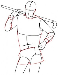 Как нарисовать Хоккеиста поэтапно в 5 шагов 3