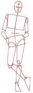 Как нарисовать Девушку в шортах поэтапно в 5 шагов 2