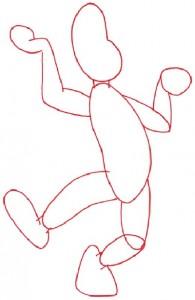 Как нарисовать Жонглера поэтапно в 5 шагов 2