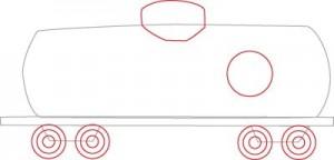 Как нарисовать Цистерну поезда поэтапно в 5 шагов 3