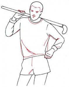 Как нарисовать Хоккеиста поэтапно в 5 шагов 4