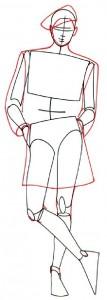 Как нарисовать Девушку в шортах поэтапно в 5 шагов 3
