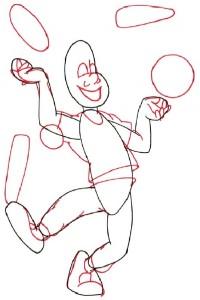 Как нарисовать Жонглера поэтапно в 5 шагов 3