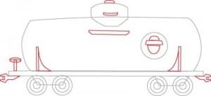 Как нарисовать Цистерну поезда поэтапно в 5 шагов 4