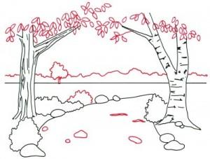 Как нарисовать Весну поэтапно в 5 шагов 4