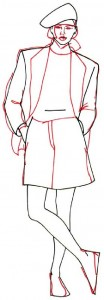 Как нарисовать Девушку в шортах поэтапно в 5 шагов 4