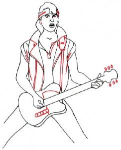 Как нарисовать человека с гитарой поэтапно в 5 шагов 5