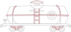Как нарисовать Цистерну поезда поэтапно в 5 шагов 5