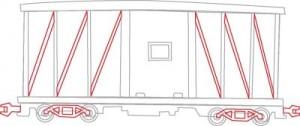 Как нарисовать Вагон поезда поэтапно в 6 шагов 5