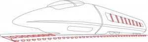 Как нарисовать Сверхскоростной поезд поэтапно в 6 шагов 5