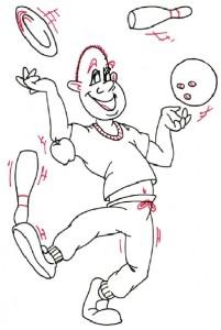 Как нарисовать Жонглера поэтапно в 5 шагов 5