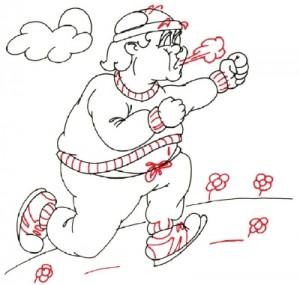 Как нарисовать Толстяка поэтапно в 5 шагов 5