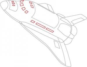 Как нарисовать Ракету поэтапно в 7 шагов 6