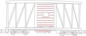 Как нарисовать Вагон поезда поэтапно в 6 шагов 6