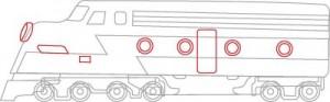Как нарисовать Поезд поэтапно в 7 шагов 6