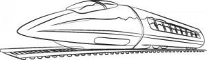 Как нарисовать Сверхскоростной поезд поэтапно в 6 шагов 7