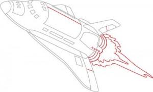 Как нарисовать Ракету поэтапно в 7 шагов 7