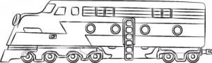 Как нарисовать Поезд поэтапно в 7 шагов 8