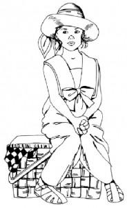 Как нарисовать Девочку с корзинкой поэтапно в 5 шагов 1