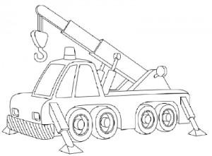 Как нарисовать Автомобильный Кран поэтапно в 10 шагов 11