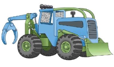 Как нарисовать машину. Трактор поэтапно в 10 шагов