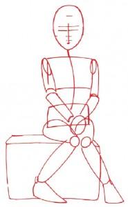 Как нарисовать Девочку с корзинкой поэтапно в 5 шагов 2
