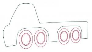 Как нарисовать Автомобильный Кран поэтапно в 10 шагов 3