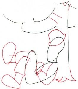 Как нарисовать Солдата поэтапно в 5 шагов 3