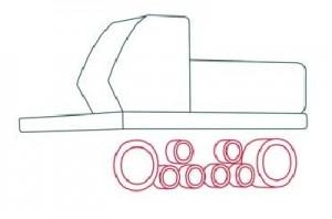 Как нарисовать Буровую машину поэтапно в 11 шагов 3
