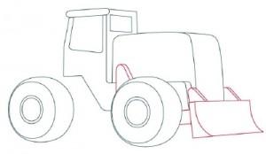 Как нарисовать машину. Трактор поэтапно в 10 шагов 4