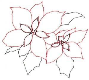 Как нарисовать цветы поэтапно. Молочай (Пуансеттия) в 5 шагов 4