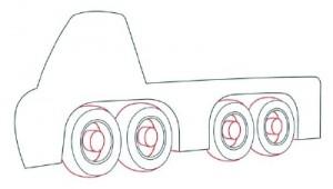 Как нарисовать Автомобильный Кран поэтапно в 10 шагов 4
