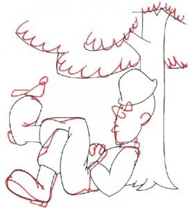 Как нарисовать Солдата поэтапно в 5 шагов 4