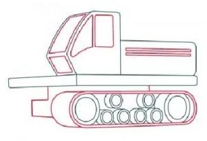 Как нарисовать Буровую машину поэтапно в 11 шагов 4