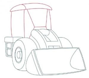 Как нарисовать Снегоуборочную машину поэтапно в 9 шагов 5
