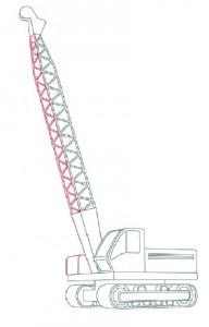 Как нарисовать Буровую машину поэтапно в 11 шагов 6