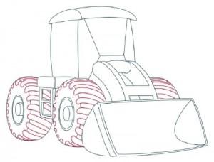 Как нарисовать Снегоуборочную машину поэтапно в 9 шагов 7