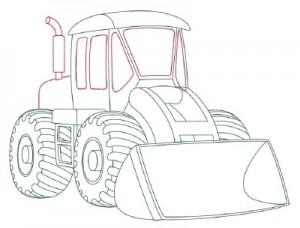 Как нарисовать Снегоуборочную машину поэтапно в 9 шагов 8