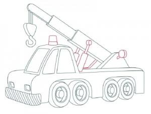 Как нарисовать Автомобильный Кран поэтапно в 10 шагов 9