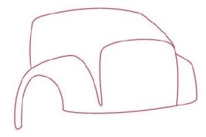 Как рисовать машины. Самосвал поэтапно в 11 шагов 2