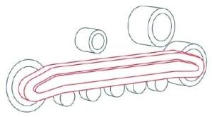 Как рисовать машины. Бульдозер поэтапно в 11 шагов 3