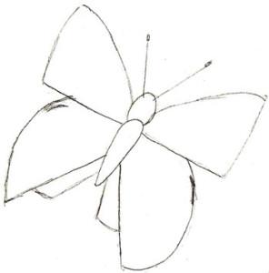 Как нарисовать Бабочку поэтапно в 5 шагов 3