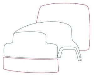Как рисовать машины. Цементовоз поэтапно в 10 шагов 3