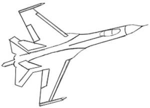 Как нарисовать самолет поэтапно в 6 шагов 5