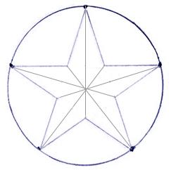 Как нарисовать звезду поэтапно в 5 шагов 5