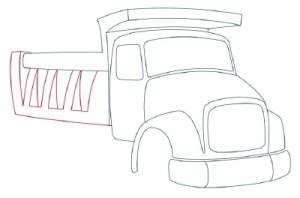 Как рисовать машины. Самосвал поэтапно в 11 шагов 6